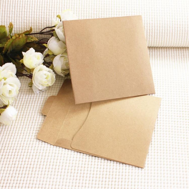 10pcs/lot 12.5X12.5cm Kraft Paper CD Cases Envelope Bag Sleeves DVD Storage Boxes Discs Caver Holder Envelope