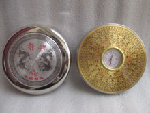 9.7 cm * / Chinese manual sculpture copper Yin and Yang gossip feng shui compass metal handicraft
