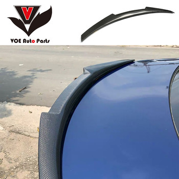 E90 M4-Style Carbon Fiber Car-styling Rear Wing Lip Spoiler for BMW 3 Series E90 4-Door 2005-2011 image