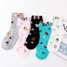 2019 Womens socks new curling cartoon Santa Claus and Halloween deodorant corners wild cute girl