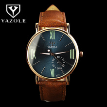YAZOLE Wrist Watch Roman numerals Mens Watch Men W