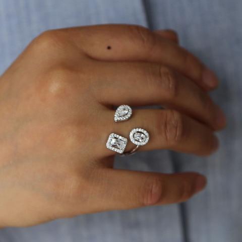 Женское Обручальное кольцо с фианитом элегантное блестящее обручальное