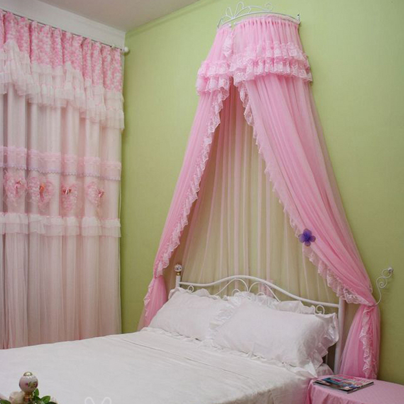 Canopy bed curtains new mosquito net curtain bunk ofhead for Bed with mosquito net decoration