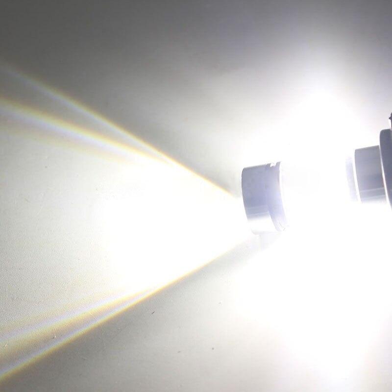 2pcs H7 Fog Light 100W LED Car Fog Tail Driving Light Headlight Backup Reverse Lamp Bulb White 12-24V Universal For Car Truck