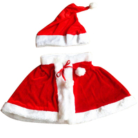 Christmas Girls Santa Claus Cosplay Costume Lovely Fancy Party Children Suit Christmas Party Kid High Quality Cheap Clothes Set