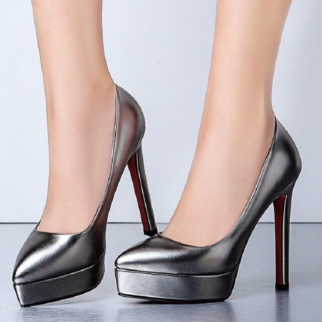 5e24b525da6df Marca Altos Tacones Charol Stilettos Negro Rojo Zapatos Señaló qw6qar