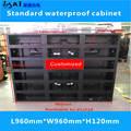 Светодиодный Стандартный водонепроницаемый шкаф/L960xW960xH120mm светодиодный шкаф для наружного и внутреннего светодиодного дисплея пустой