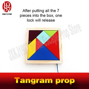 Image 4 - Tangram prop for room escape game adventurers collect all color pieces to figgure out the puzzle clues  and  unlock chamber room