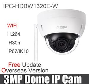 Image 2 - Original IPC HDBW1320E W 3MP WiFi IP Camera Mini IR Dome IP67 IK10 SD Card slot DH IPC HDBW1320E W Wireless Security Camera
