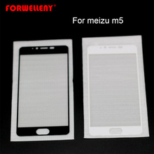 For meizu m5 Full Cowl Tempered Glass Silk Movie Entrance Display Protector
