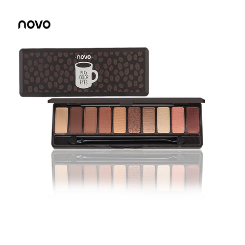 NOVO Fashion eyeshadow palette 10Colors Matte EyeShadow naked palette Glitter eye shadow MakeUp Nude MakeUp set Korea Cosmetics Islamabad