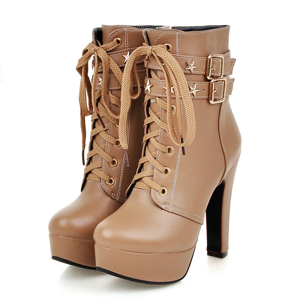 Zip Taille Apricot Chaussures Femmes 2019 Grande Nouveau Ceinture forme  blanc Noir 32 Bottes Solide Cheville Mode Plate Pour 47 Automne noir Boucle  ... cea7df70a2d