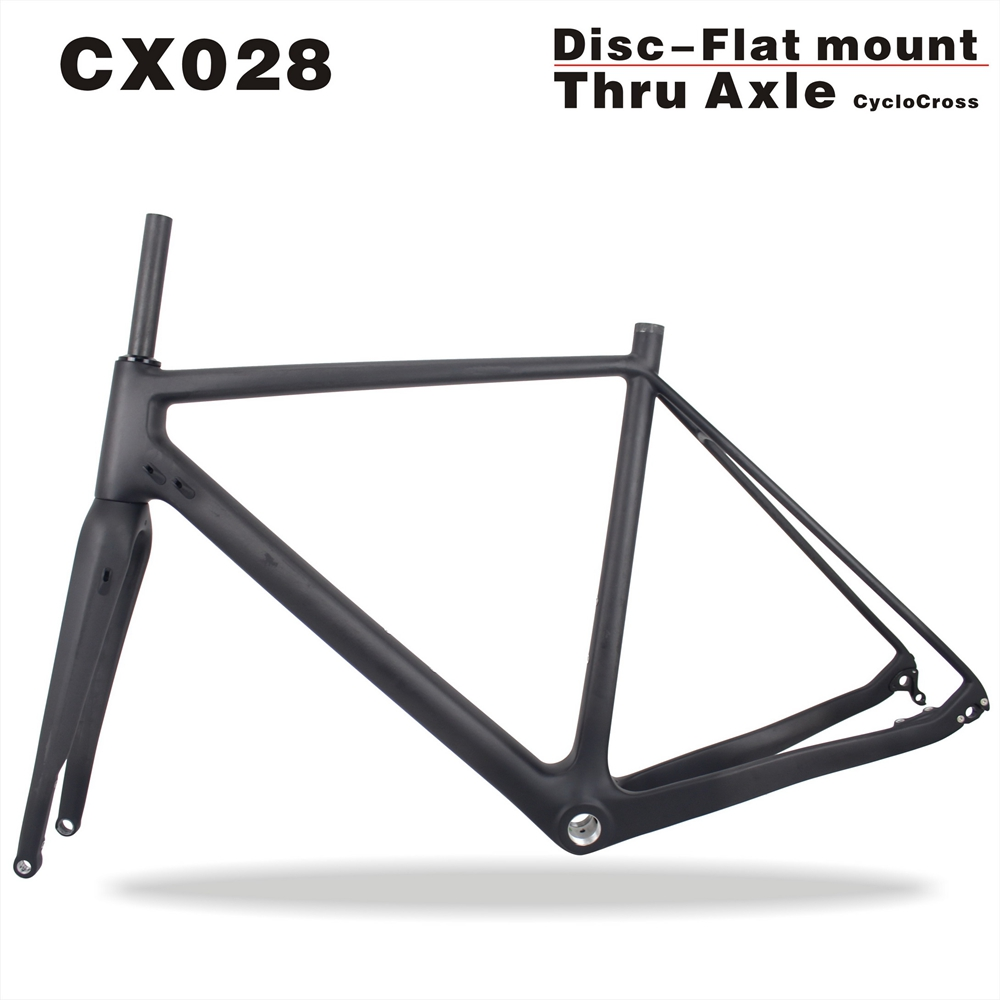 2017 MIRACLE Full Carbon Cyclocross Frame Thru Axle Cyclocross Bike Frame 700*40C bicicleta Carbon Frame Size 49/52/54/56/58cm  seraph 2018 carbon fiber cyclocross bike carbon cyclocross frame 142 12mm rear thru axle fm286 carbon frame 56 color paint