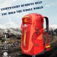 187b7f17da2 50L Large Capacity Waterproof Nylon Ultra Light Mountaineering Bag Hiking  Climbing Cycling Backpack Unisex Steel Frame