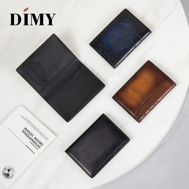 Famous brand handmade Italian leather wallets for men, luxury scritto designer card holders cash coin purse dropshipping popular