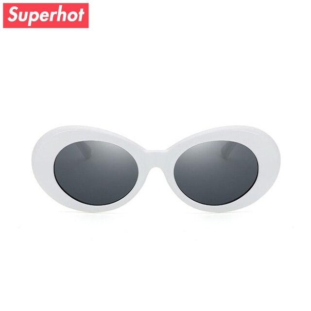 f78bfe0bcae6 Superhot Eyewear White Oval Sunglasses Men Women Retro Vintage Sun glasses  Black Red Alien Shades UV400