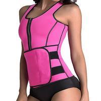 Neoprene Sauna Suit Tank Top Vest Waist Trimmer With Adjustable Waist Trainer Belt Slim Waist