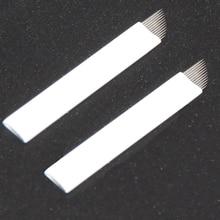 50pcs Tebori 12 Pin Permanent Makeup Manual Eyebrow Embroidery Microblading Blades For Sale