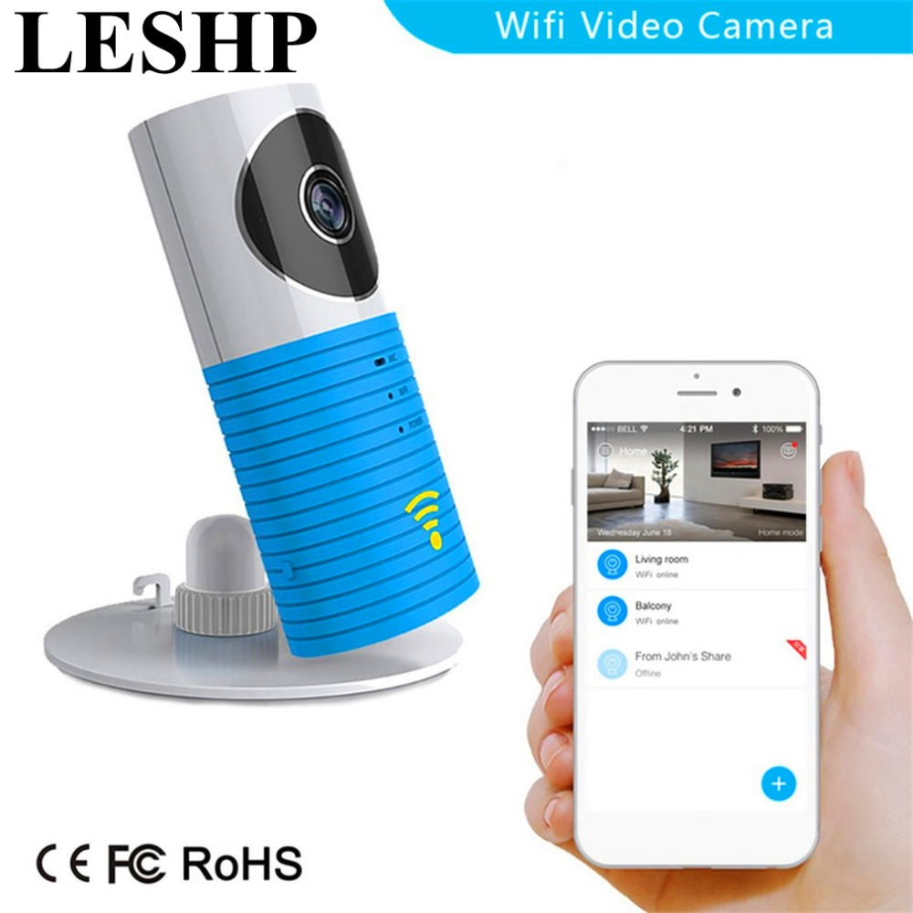 LESHP Infrared Night Vision 720P Smart Wireless Security Camera  P2P Network Baby Pet Monitor Home Serveillance Wifi Camera 2017 new gift with uv lamp remote control lcd display automatic vacuum cleaner iclebo arte and smart camera baby pet monitor