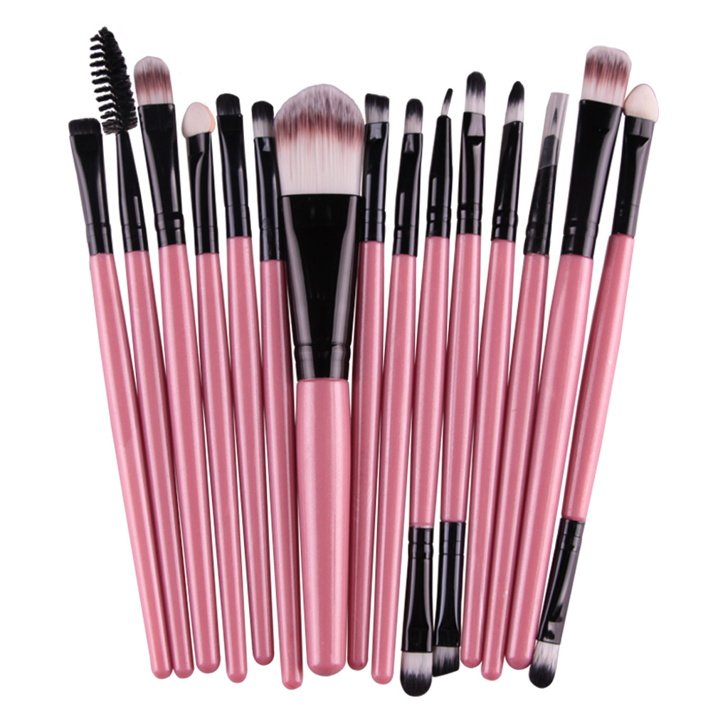 15pcs/set Makeup brushes Professional Beauty Eyebrow Blusher Foundation Cosmetic Make up brush set Maquiagem