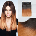 8A Sleek Brand Brazilian Virgin Hair Bundles T1B/30 Ombre Brazilian Hair 3PCS/LOT Ombre Human Hair Aliexpress UK,Thick End