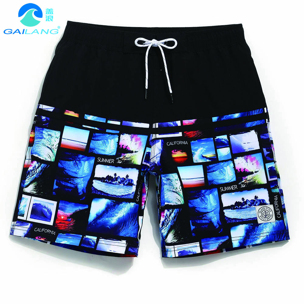 Gailang Brand Men's   Shorts     Board     Short   Bathing   shorts   for men Swimwear Beach Swimsuit Brand wimsuit Swimming Trunks GMA1003