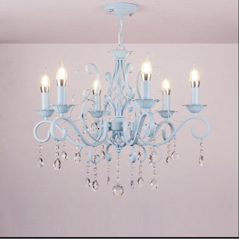 Kristallen kroonluchter woonkamer lamp pastorale mediterrane slaapkamer restaurant kaars - Wohnzimmerlampe modern ...