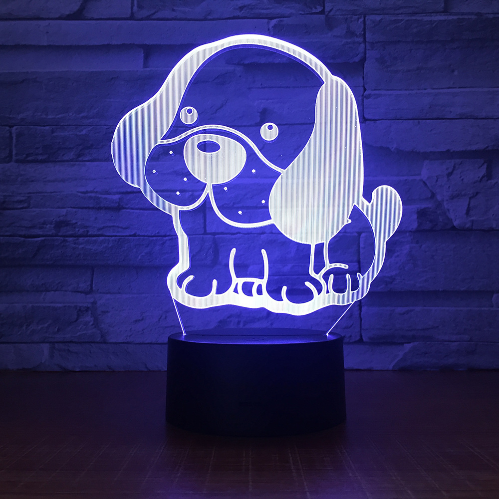 Winnie the Pooh 3D Night Light 7 Color Change LED illusion Desk Table Lamp Touch