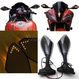 Image 5 - MOTORCYCLE LED TURN SIGNAL MIRRORS FOR KAWASAKI NINJA 6R 9R 650R 250R 636/YAMAAH YZF R1 R6 R6S/SUZUKI GSXR 600 750 1000 KATANA