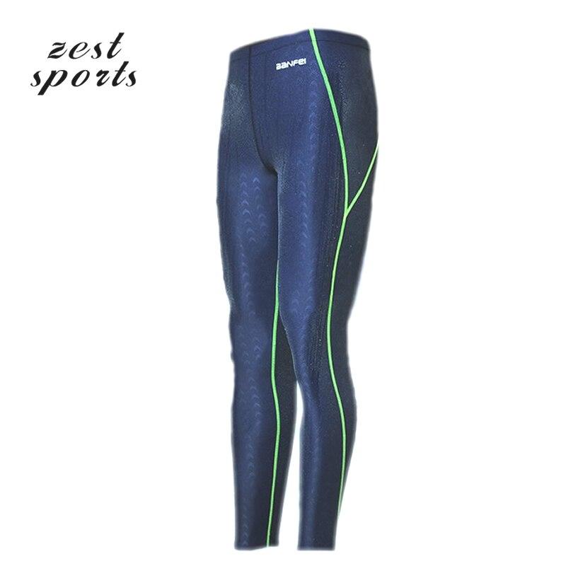 190482325f6fe 1612, Deep Blue Men's professional shark skin swim trunks, fall winter Long  swimming trunks, Surfing trunks, waterproof