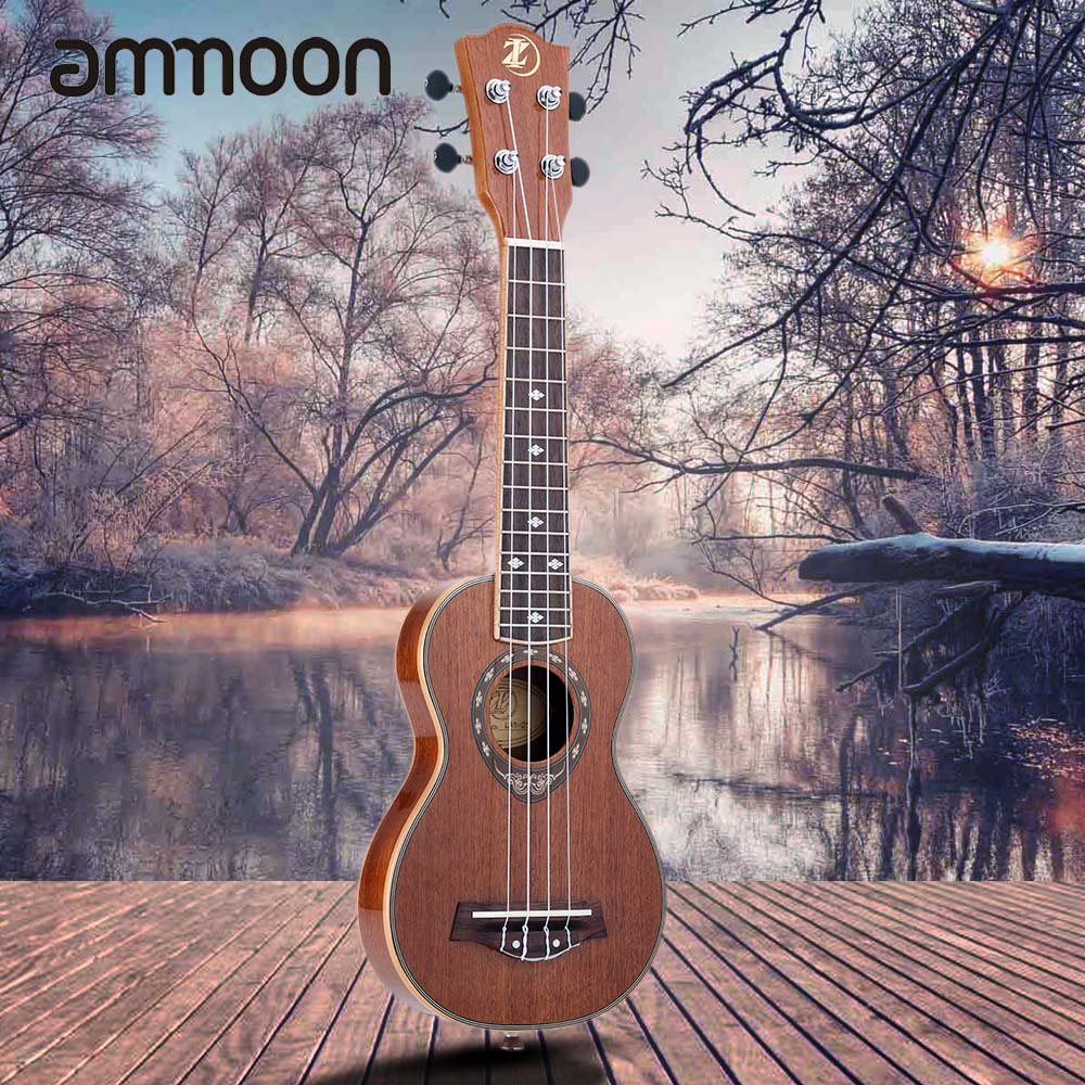 High Quality 21 Ukulele 42mm Slim Design Soprano Ukelele Sapele Body with Mahogany Fingerboard