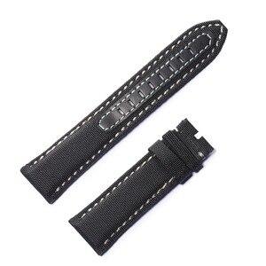 Image 5 - Reef Tiger/RT Top Quality Black Nylon Leather Watch Strap for Men Nylon Strap Dive Watch Band Free Shopping RGA3035