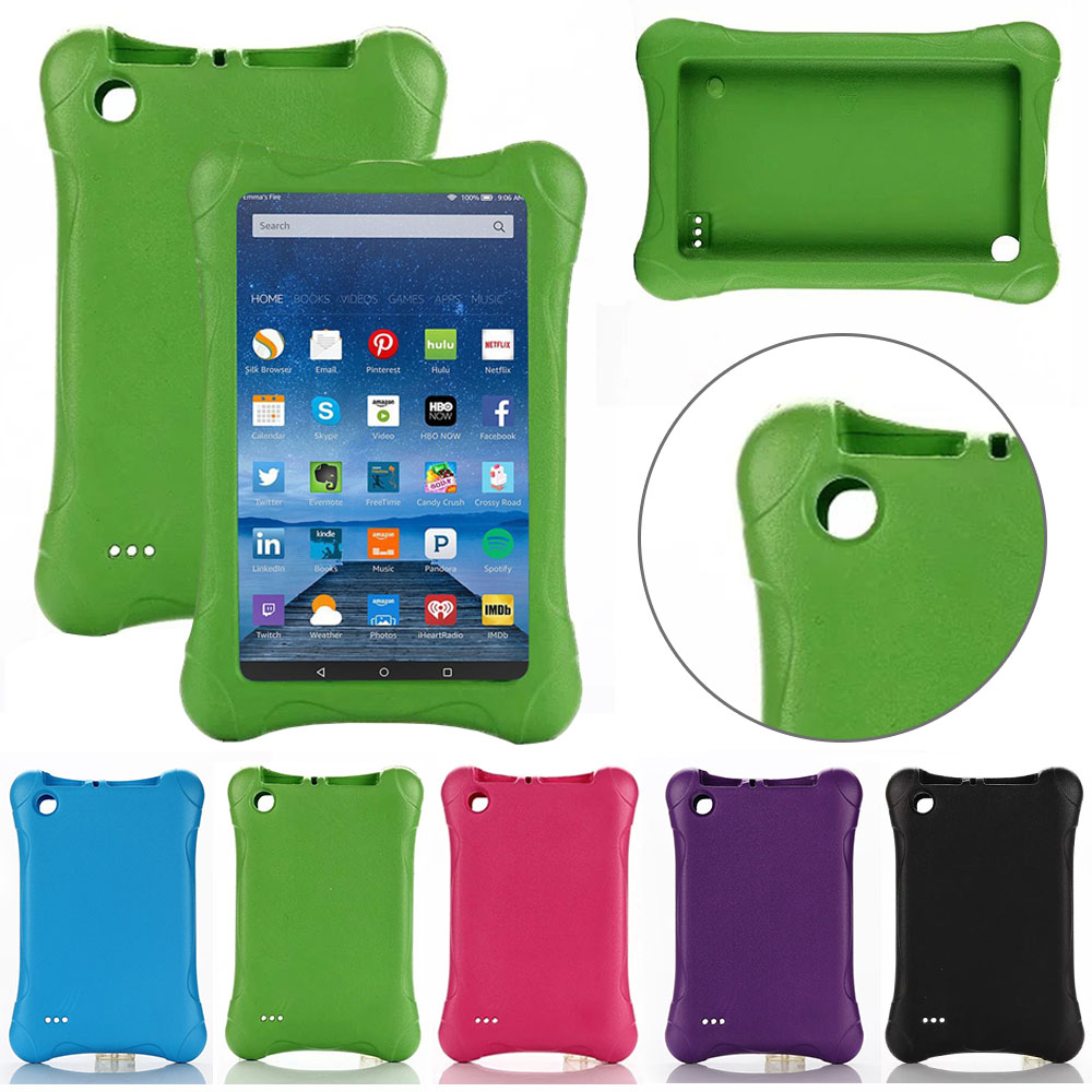 Kids Children Safe Rugged Proof EVA Foam Case for Amazon Kindle Fire 7 7 5th Gen 2015/2017 Edition
