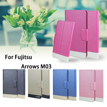 5 Colors Super! For Fujitsu Arrows M03 Phone Case Leather Full Flip Phone Cover,High Quality Luxurious Phone Accessories