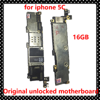 For Iphone 5C Clean ICloud Motherboard With Chips 16GB Ios System Logic Board For Apple 5C