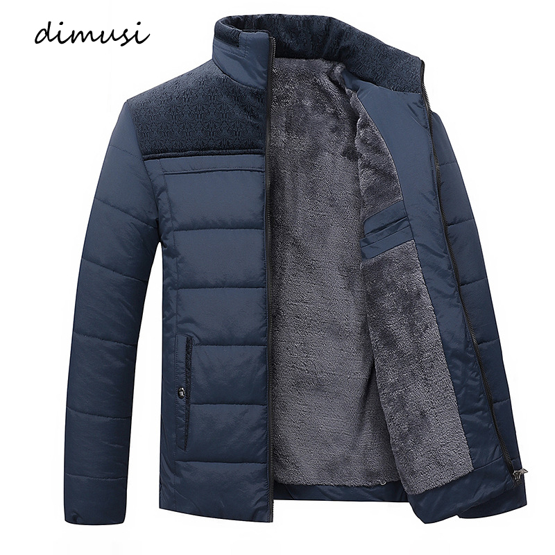 DIMUSI Winter Jacket Men Fleece Thick Warm Jacket   Parkas   Men padded Winter Jacket Fashion Slim Outwear Coast Clothing 4XL,TA029