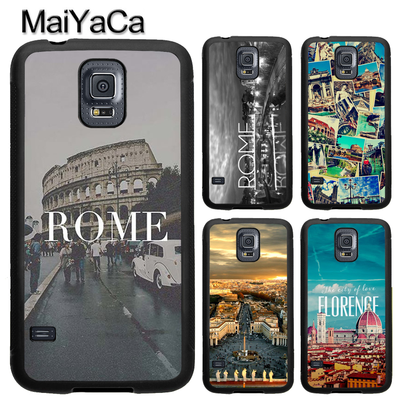 MaiYaCa Italy Rome City Building Phone Case Fundas For Samsung S7 S5 S6 edge S8 S9 plus Note 8 Note 4 Note 5 Back Cover
