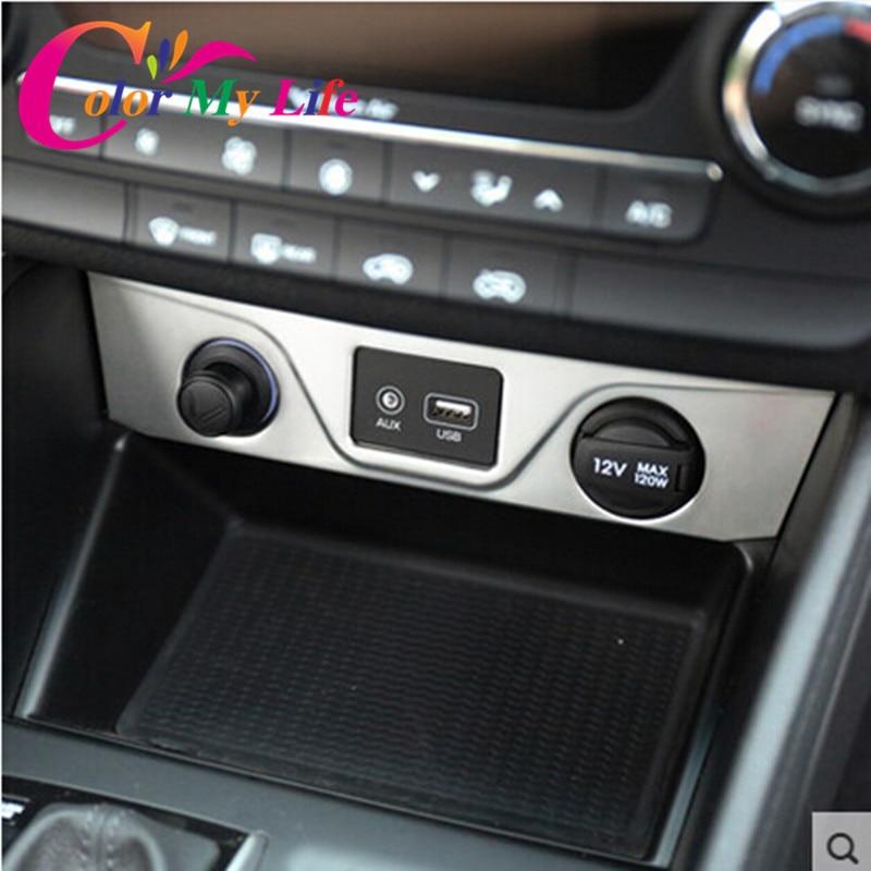 Цвет моей жизни автомобиль хром прикуривателя интерьер украшение отделка наклейка для Hyundai Tucson в 3-х 2015 2016 2017 аксессуаров