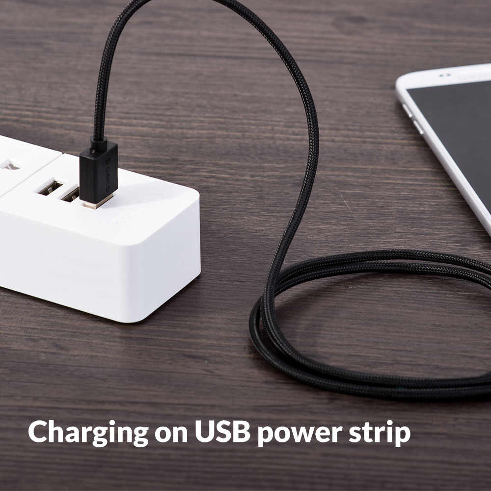 ORICO mikro USB telefon kablosu hızlı şarj Sync kablosu Android cep telefonu için destek Max 2A 1 M siyah/beyaz/pembe için xiaomi