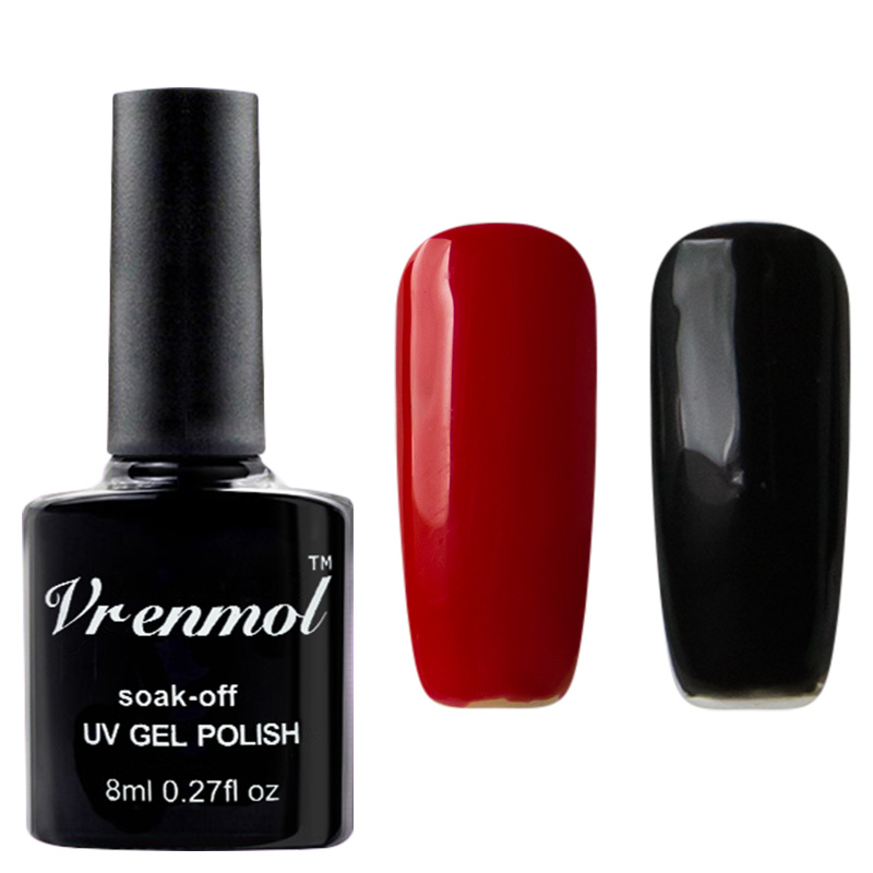Vrenmol 2pcs French Manicure Set Nail Art Black + Red Color+ French ...