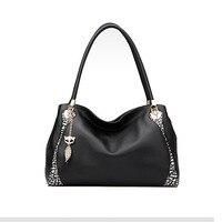 2015 New FOXER Brand Women Genuine Leather Bag Fashion High Quality Women Handbags Shoulder Messenger Cowhide