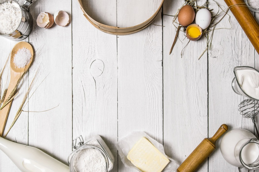 Laeacco gris de tableros de madera herramientas de cocina huevo ...