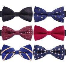 Модный галстук-бабочка для смокинга, мужской красный и черный тартан, для жениха, для свадьбы, для вечеринки, цветные полосатые галстуки-бабочки, мужские галстуки