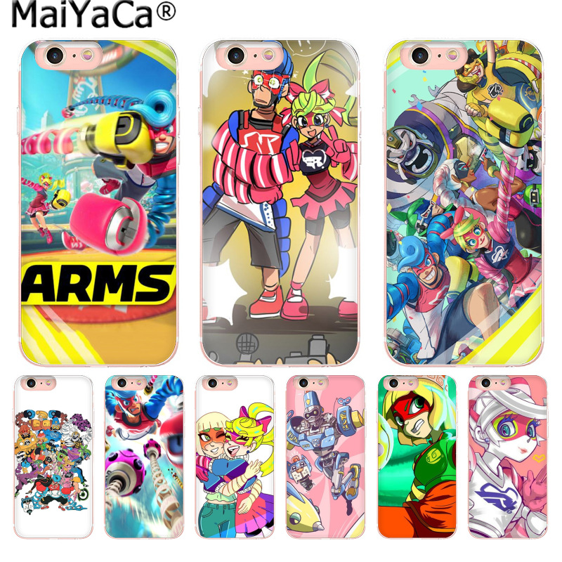 MaiYaCa ARMS game Newest Fashion Luxury phone case for iPhone 8 7 6 6S Plus X 10 5 5S SE 5C 4 4S Coque Shell