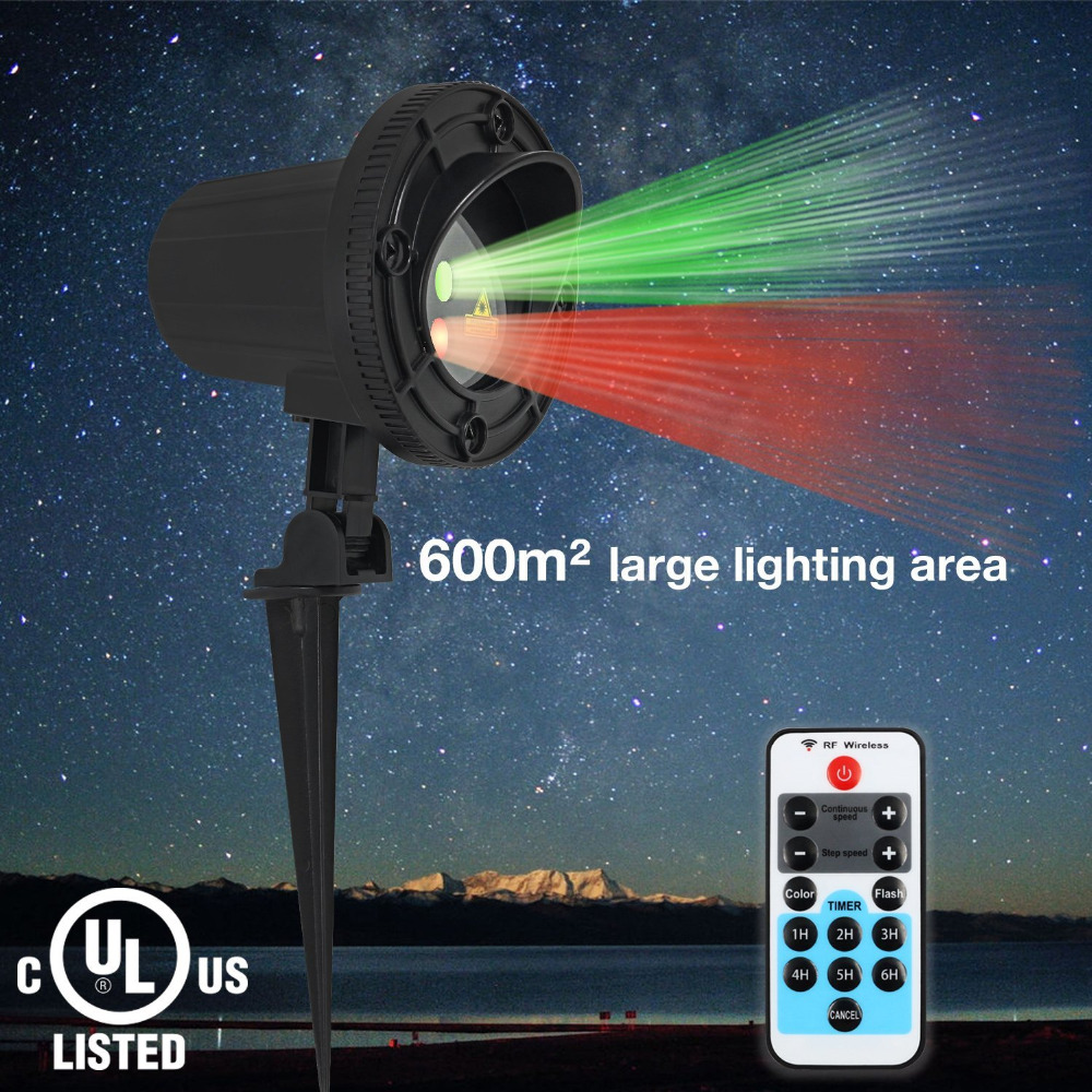 ФОТО Laser Star Lights Projector Showers Christmas Garden laser Light Waterproof Outdoor With IR Remote Red Green Mix Motion Twinkle