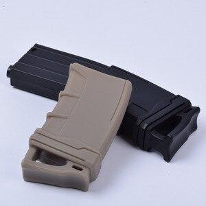 "Image 2 - טקטי 5.56 נאט""ו מגזין פאוץ גומי נרתיק עבור M4/M16 ציד אבזרים"
