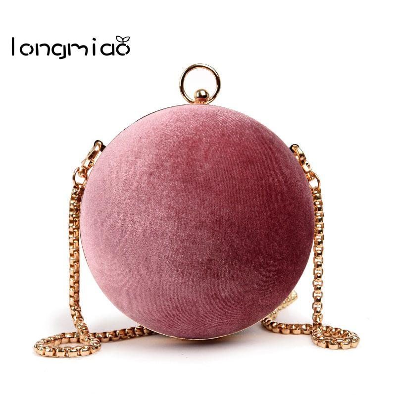 Longmiao Для женщин маленький милый круговой вечерняя сумочка; BS010 Свадебные круглый шар наручные Crossbody сумка клатч кошелек сумочка