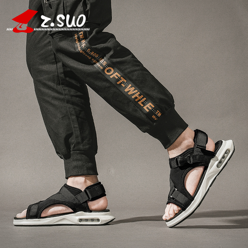 Z.SUO Mens sandals summer new fashion casual slippers mens trend Korean version slippers Air cushion soleZ.SUO Mens sandals summer new fashion casual slippers mens trend Korean version slippers Air cushion sole