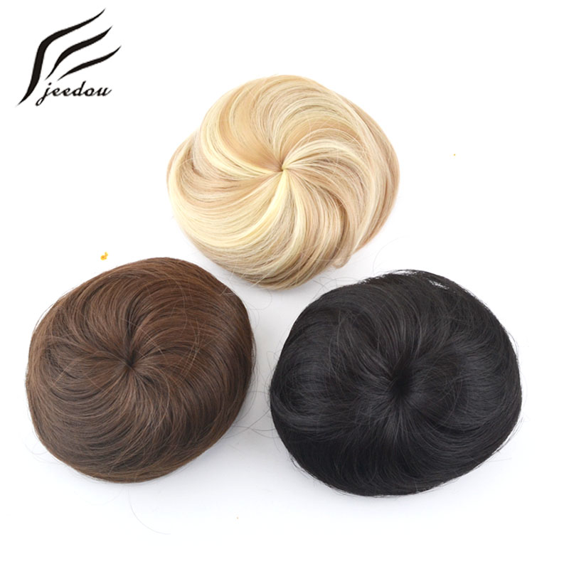 jeedou pelo sintético pelo rubio rubio color de la mezcla 30g bollo - Cabello sintético - foto 3