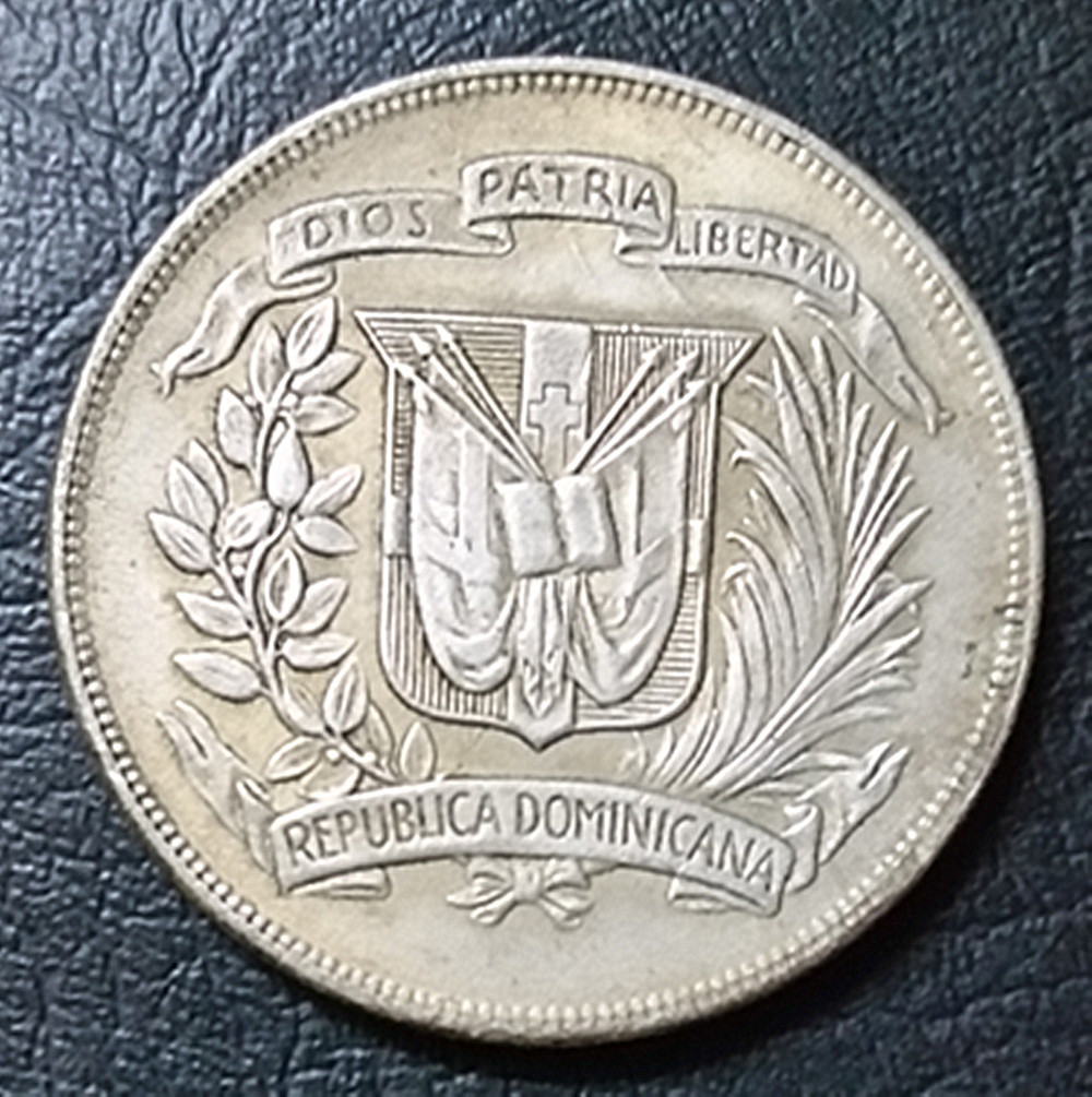 b77f0e6a68b0f 1974 Dominican Republic 1 Peso Central American and Caribbean Games  Commemorative issue Coin Exact Copy